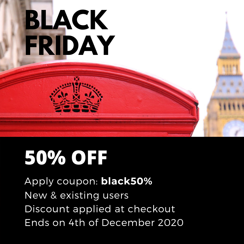 Black friday 50% off in all online courses and certificates by LGCA